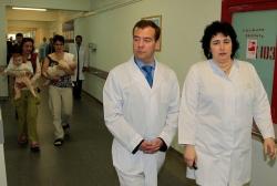 Посещение Д.А.Медведевым 18 больницы